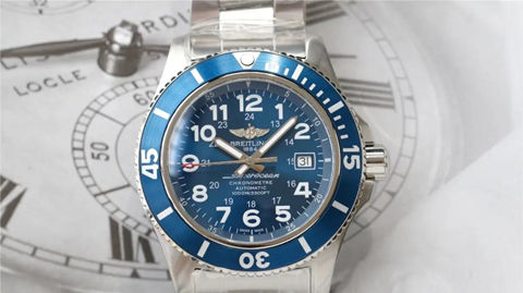 blue Breitling Superocean 44 Replica